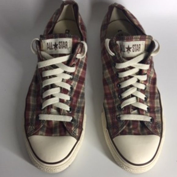 Converse Other - Converse Chuck All Star Plaid Low Top Sneakers